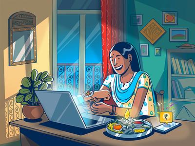 Raksha Bandhan design indian expression vector satishgangaiah india illustration rakhi rakshabandhan