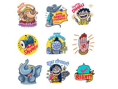 Sticker design for Facebook logo ui branding illustration india satishgangaiah design indian expression vector stickerdesign sticker