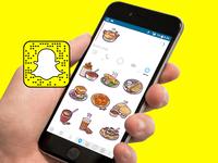 Food sticker-Snapchat app