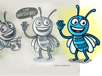 water bee- Mascot design