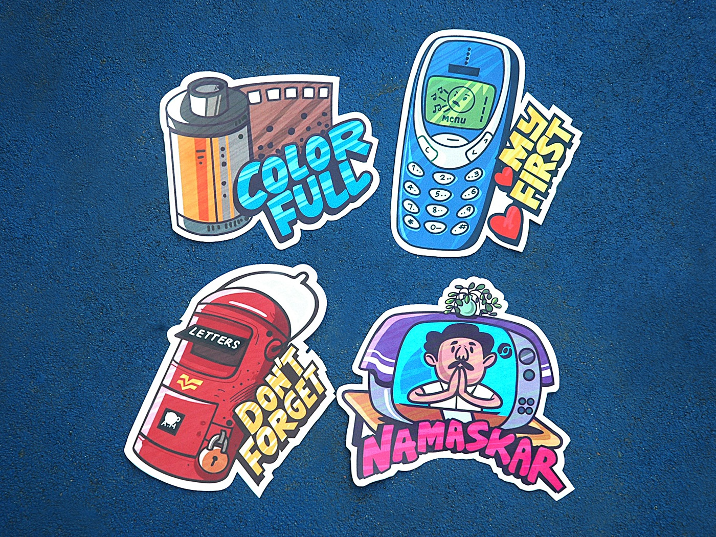 indian stickers stickers vector illustration emoji