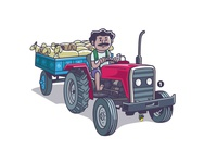 indian farmer- tractor