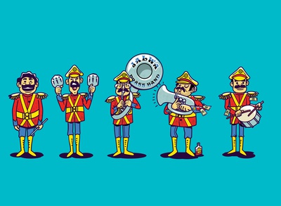 brass band satishgangaiah design dribbble india indian musical poster bollywood song uniform drummer musicapp music brassband