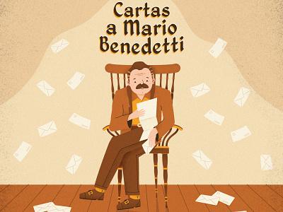Cartas a Mario Benedetti design character design character illustration