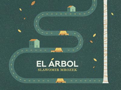 The tree - Slawomir Mrozek books route cars houses tree book cover illustration