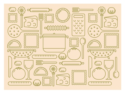 Pastaia Icons Pattern