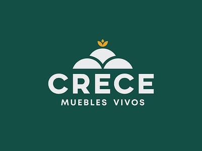 Crece - Branding landscape furniture sustainable grow logodesign logotype logo identity brand design design branding brand