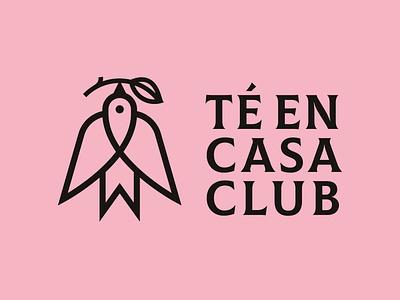 Té en Casa Club tea leaf leaf tea club tea house house pink bird delivery club chai tea