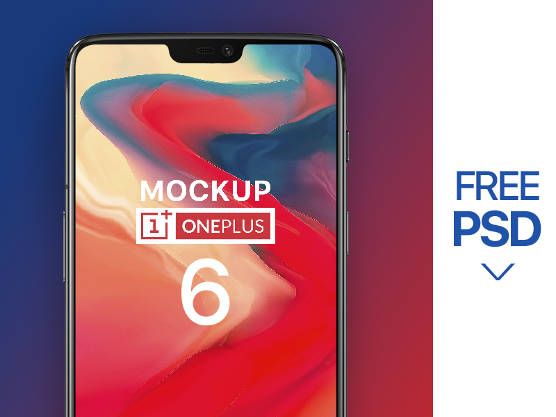 One Plus 6 MockUp- FREE PSD 6 oneplus phone psd free mockup