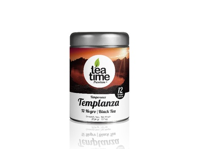 Label design for Tea Time Premium - Temperance