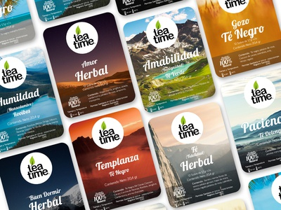 Tea Time product Labels