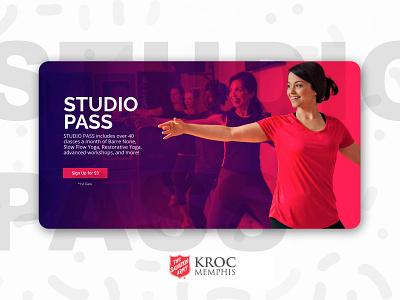 Kroc Memphis Studio Pass Campaign web modern design landingpage branding yoga campaign website salvation army