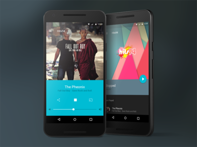 Android Media Player material design material app blue media player android