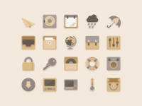 Flat Icons Vanilla Choc Chip Theme