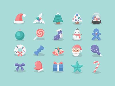 Christmas Icons 2015 christmas 2015 xmas winter sunbzy santa gift snowglobe candy ribbon icons free
