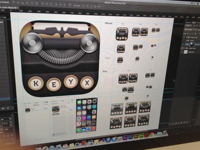 KEYX - Work in progress icon design