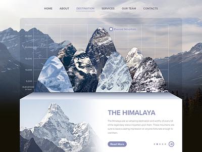 Seven Summits - Re-design himalaya summit 7summit mountain weather ui webdesign high ecology destination sunbzy everest