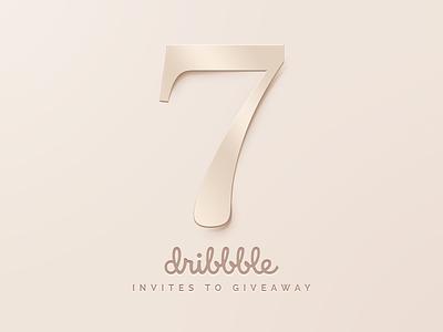 Dribbble Invites Giveaway minimal luxury rosegold gold hi-end cream illustration sunbzy giveaway invite invitation dribbble invites
