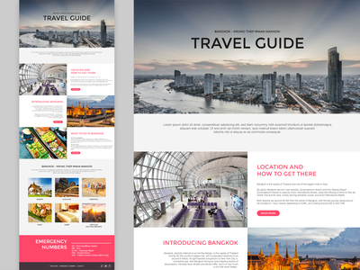 Travel Guide uxui web web design sunbzy website responsive travel guide bangkok thailand tourist traveler