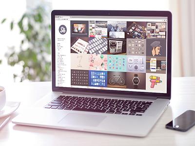 Personal Site showcase work available freelance hire illustrator button clean portfolio icon ui sunbzy