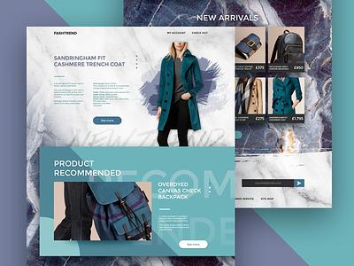 FASHTREND user interface website web idea concept ui design design purple green burberry e-commerce fashion
