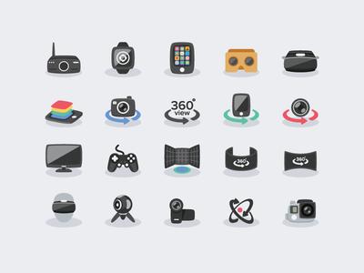 Virtual Reality - VR Icons