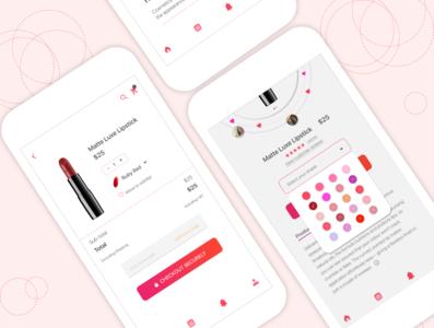kimaya ecommerce cosmetic uidesign visual art mockup mobile app