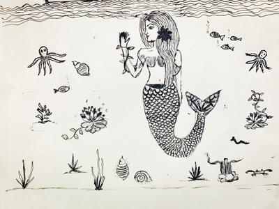 Mermaid scribble