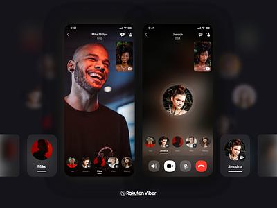 Group Video Calls Feature | Viber call whatsapp telegram viber cards ui ui design mobile ui mobile app design app messaging video chat video group message app message video