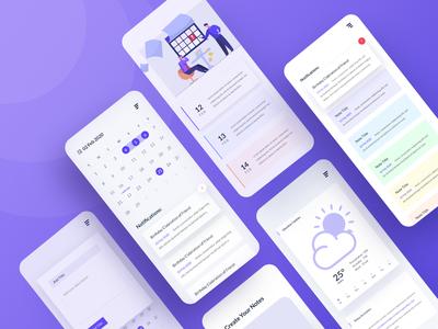 NoteTime App Design - Calendar