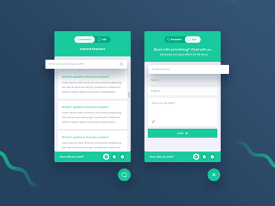 BetterDocs | Instant Answers Design template branding illlustrator app web design feedback support live chat chat ux