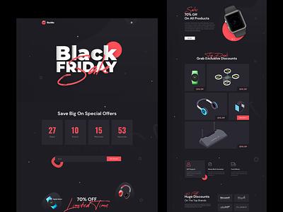BlackNov - Black Friday Landing Page monday cyber web logo illustration template celebration deal black friday
