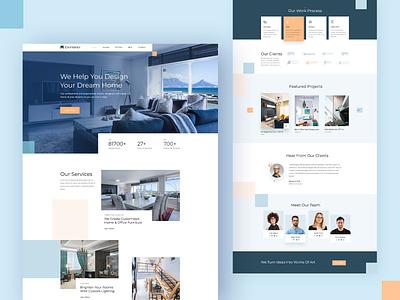 EleInterior - WordPress Website Template For Interior Design agency design creative minimal template web app icon realestate interior ux ui