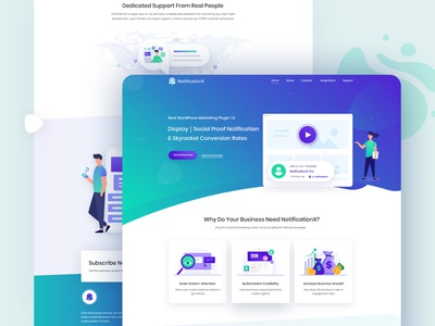 NotificationX Website Design branding web vector agency illustration design creative template ui ux