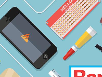 Barcelona Mini Maker Faire Poster barcelona poster illustration vector iphone maker faire