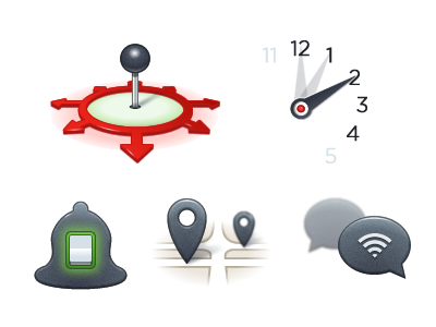 BL icons icons position alarm notifications