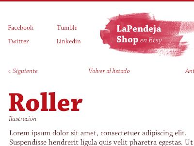 LaPendeja 2.0 navigation brush chaparral typography