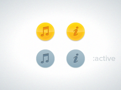 The Daily Button button states music info