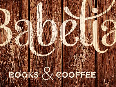 Babèlia Logo logo logotype mishka typography wood gotham