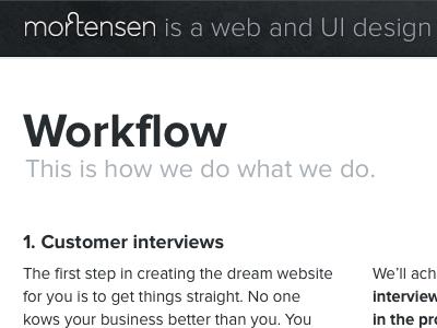 mortensen.co mortensen website portfolio typography typekit
