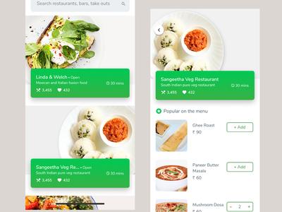 Food ordering app exploration
