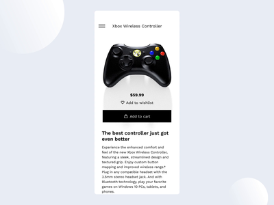3D Product page transition