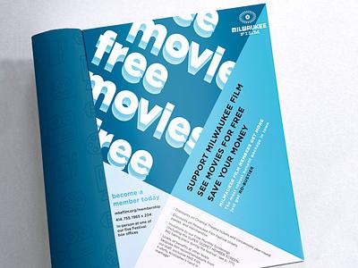 Ad Option for Milwaukee Film Program Book advertisement typography publication publication design print film festival film milwaukee film festival