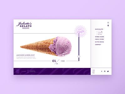 Juliettes Gelato webdesign france icecream gelato branding logo adobexd ux ui