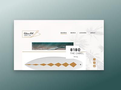 Eskimo Roll Surf Co. surf surfing typography branding webdesign adobexd ux ui