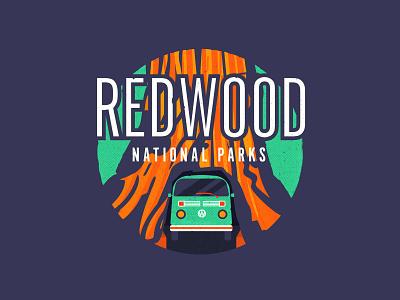 Redwood National Parks texture redwood national park parks park vector typography illustration