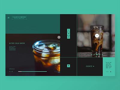 Calico Coffee roasters coffeedesign coffee webdesign branding adobexd ux ui junedesignchallenge