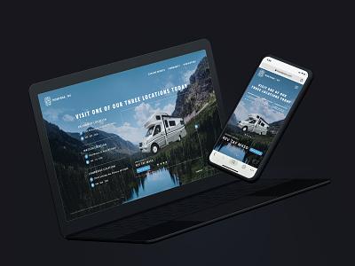 Montana RV camping mobile home rv web app webdesign branding adobexd ui