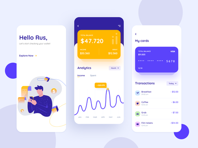 Finance App card transaction mobile ui money transfer money statistics uxui product design mobile chart banking finance ux ui inspiration creative graphic illustration