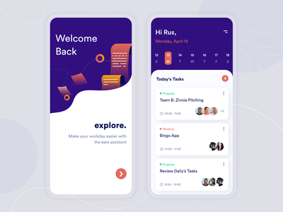 Task Management App schedule app task manager task list web design product design mobile schedule card task task management project management uidesign uiux ui inspiration creative illustration